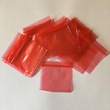 200 X Grip Seal Borse Di Qualità Small Rosso RICHIUDIBILI pulsante Storage Stash 5x5cm Borsa