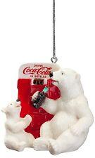 Coca-Cola Polar Bear and Cub at Coke Vending Machine Christmas Ornament