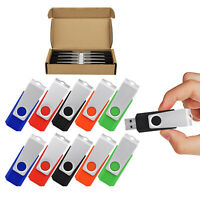 5/10PCS 32GB USB2.0 Flash Drives Rotating Pen Thumb Memory Stick Storage Drive