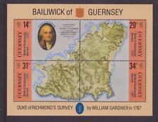 GUERNSEY MNH STAMP MINIATURE SHEET 1987 DUKE OF RICHMOND SG MS393