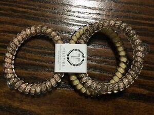Teleties 3 Pack Small Hair Ties Hazel Ponytail Holder Bracelets NEW