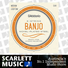 D'Addario EJ61 ( EJ-61 ) Banjo Strings Nickel Wound Med 10-23 - New