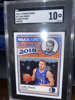 LUKA DONCIC ROOKIE SGC 10 2018 RC NBA HOOPS CLASS OF 2018 WINTER #3