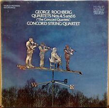 2 LP BOX RCA RED SEAL George Rochberg CONCORD STRING QUARTET 4-6 ARL2-4198