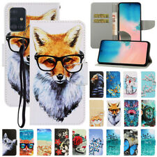 For Samsung Galaxy A41 A51 A71 A21S Painted Leather Flip Wallet Phone Case Cover