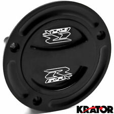Black Keyless Gas Cap Twist Off Fuel Tank Cap Logo For Suzuki GSXR 600 2004-2015