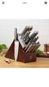 Henckels Modernist Forged 20-piece Self-sharpening Knife Block Stainless Steel