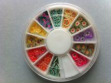 Carrousel 120 pcs fimo nail art fleur ongle manucure envoi 24 heures