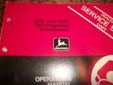 John Deere Operator'S Manual 2320 And 2420 Self-Propelled Windrowers