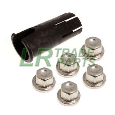 LAND ROVER DEFENDER DISCOVERY LOCKING WHEEL NUT COVER REMOVAL TOOL &  COVERS X5
