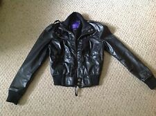 Women's S Miley Cyrus Max Azria Faux Leather Acket