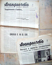 1951 LOTTO DI 2 GIORNALI 'AVANGUARDIA' DELL'AVANGUARDIA CATTOLICA MILANESE