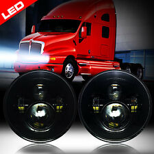 LED Headlights Headlamps Black for Kenworth T2000 Semi-truck