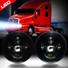 LED Headlights Headlamps Black for Kenworth T2000 Semi-truck