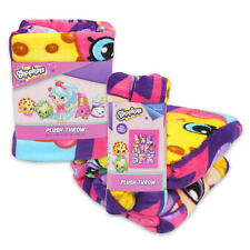 Shopkins Super Soft Plush Throw Fleece Blanket 46in x 60in - 'We are Shopkins'