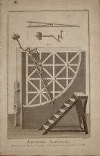 "Stampa antica ""Strumenti Astronomia"" Diderot D'Alambert 1780 old print"