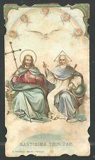 New listing Holy card antique de la Santisima Trinidad image pieuse santino andachtsbild