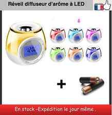 Réveil horloge diffuseur d'arôme à LED + 3 piles