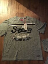 Superdry urban Logo T-Shirt in Shadow navy size  large uk 14 woman's