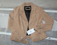 NWT $595 UGG Lamb Suede Moto Jacket with Belt size XS BRAND NEW