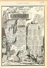 Catalogue Hetzel & Cie de Jules Verne & Stahl Jean Macé Hector Malo GRAVURE 1883