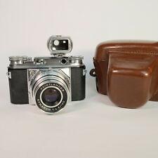 Voigtlander Prominent 35mm Range Finder Film Camera, Turnit 3, Case, RARE