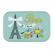 """Petite Boîte à tout """"Paris Je t'aime"""" en métal à images - DLP Derrière La Porte"""