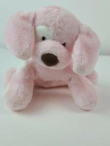 "Gund Pink Baby Spunky Puppy Dog Plush! 8"" Lovey Stuffed Toy to30"