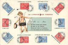 CPA THEME TIMBRE LE LANGAGE DES TIMBRES