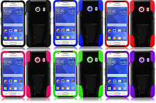 T-Stand Hybrid Cover Case for Straight Talk Samsung Galaxy Ace Style S765C Phone