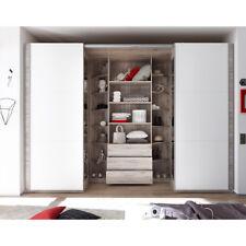 Schwebetürenschrank Big Kleiderschrank Schrank begehbar in Sandeiche weiß 315 cm
