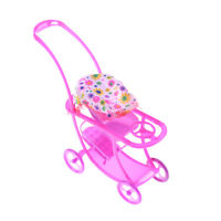 Kelly Doll Play House Accessories Toys Plastic Trolley Stroller Better new_FR