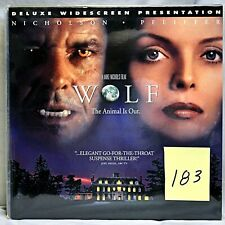 Wolf Widescreen Laserdisc Ld Jack Nicholson Michelle Pfeiffer Like New