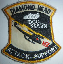 DIAMOND HEAD - Patch - ATTACK HELICOPTER - BRAVO, 25th AVIATION - Vietnam War, L