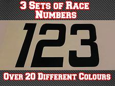 "3 Sets 6"" 150mm Race Numbers Motocross Custom Vinyl Stickers Decals MX  Bike N29"