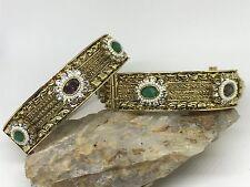 CLEARANCE High Quality Gold Plated Polki Bangle Bracelet Moti Pearl Kada SZ 2.8