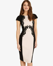Phase Eight Gilly Lace Trim Dress Pink/Black Size UK 16 rrp £150 LF081 DD 13