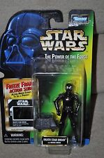 STAR WARS POWER OF THE FORCE DEATH STAR DROID WITH MOUSE DROID FREEZE FRAME MOSC