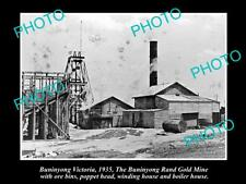 LARGE OLD HISTORICAL PHOTO OF BUNINYONG VICTORIA, VIEW OF THE GOLD MINE 1935
