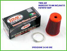 Filtro aria twin air BMC aspirazione diretta abarth tuning 70 mm Inclinato a 12°