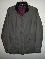 Euc Womens M Medium Ibex 100% Wool Full Zip Polyester Fill Insulated Jacket Coat