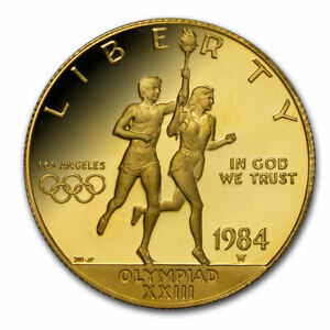 1984-W Gold $10 Commem Olympic Proof (Capsule Only) - SKU#216571
