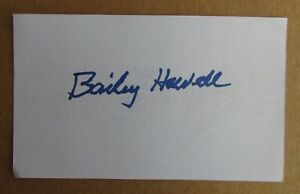 BAILEY HOWELL SIGNED AUTOGRAPH 3X5 INDEX CARD NBA 1959 PISTONS CELTICS 76ERS