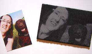 Schieferplatte individuelle Fotogravur 300x200mm Lasergravur Foto Bild Geschenk