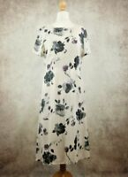 Vintage St Michael M&S Cream Mix Floral Dress Size UK 14 Marks and Spencer