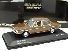 Minichamps 1/43 - Audi 100 Marron 1969