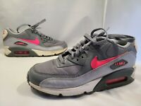 Nike Air Max 90 Mesh GS Sneakers Shoes 5.5Y 724855-007 Gray Pink