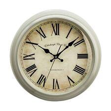 Premier Housewares Vermont Wall Clock, Grey Plastic