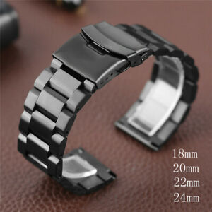 18 20 22 24mm Stainless Steel Metal Wristwatch Band Strap Bracelet Quick Release