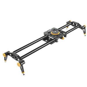 Neewer 120cm Video Stabilizer Rail Carbon Fiber Camera Slider with 6 Bearings